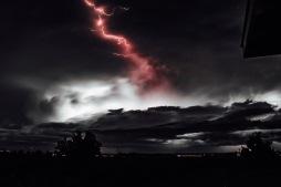 Lightning overCascade Range