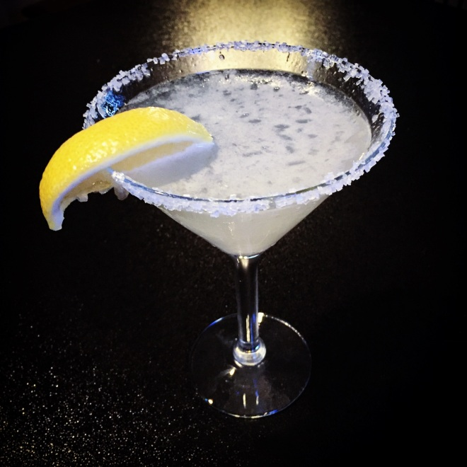 Sweet Ginger Lemon Drop Martini